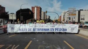 Gran participación en la manifestación de Málaga