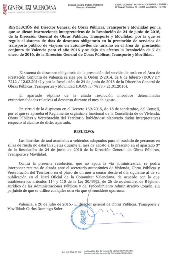 resolucion 26 de julio adaptados